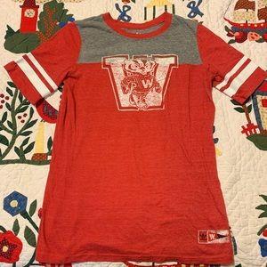 Retro adidas Wisconsin badgers t shirt